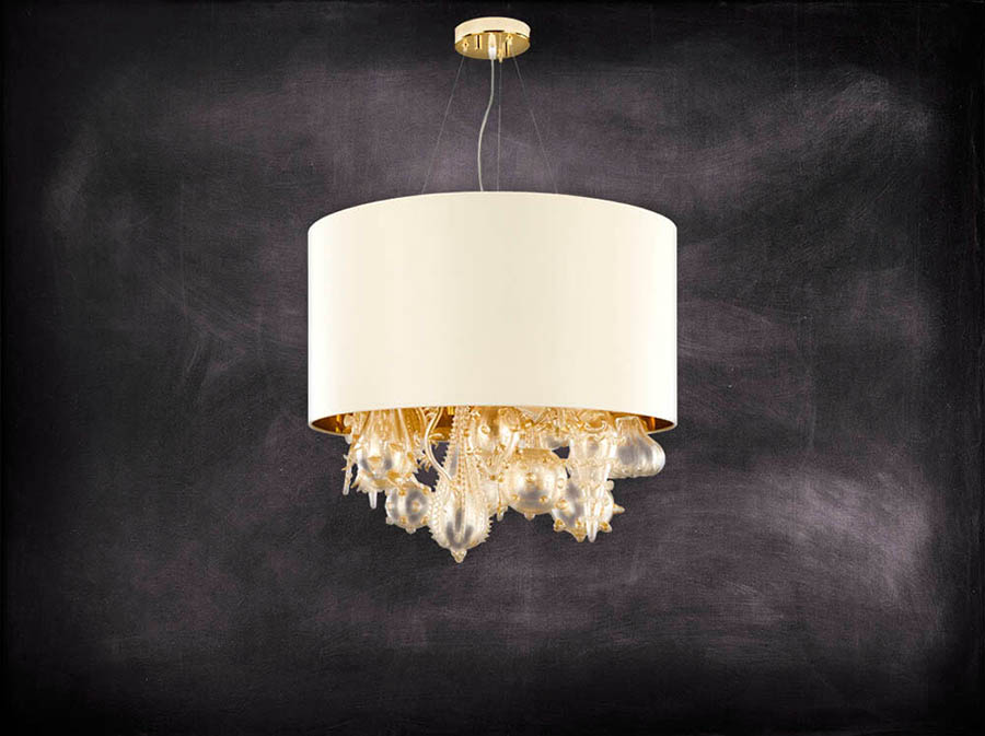 lampadari design moderno in vetro soffiato, personalizzabili